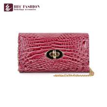 HEC China Factory Luxury Style PVC Leather Pocket Lady Wallet Money Bag