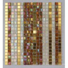 Iridescent Mosaic Mix Gold Mosaic Tile (HC-28)