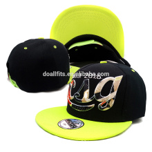 colorful embroidery customized snapback cap with your own logo