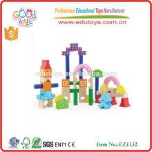 Girls Dream Series Jouets éducatifs en bois 40pcs Building Blocks for kids