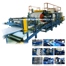 Discontinuous PU Sandwich Panel Production Line Iron Sheet Machinery