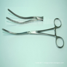 Stainless Steel Surgical Curved Intestinal Forceps