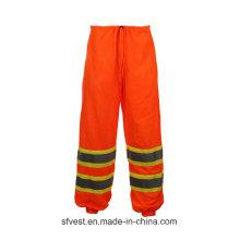 Sécurité haute visibilité Pantalons pluie étanches pour adultes