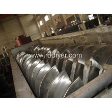 Electroplating sludge paddle dryer