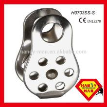 H0703SS-S CE EN12278, tamanho da corda 13mm, polia lateral fixa de aço inoxidável