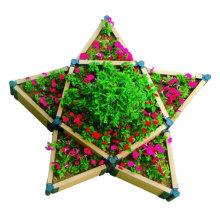 Wood Grain Customized Size Color DIY Garden Decoration WPC Flower Planter Vegetable Box