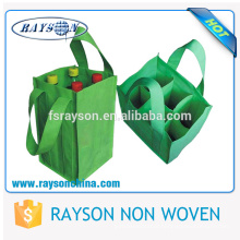 Wholesale Custom Promotional Firm 1.5L ,Single / 4 / 6 Bottle Tote Non Woven Wine Bag