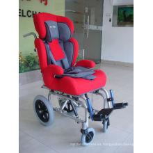 Cómoda silla de ruedas manual para niños con parálisis cerebral (THR-CW258L)