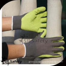 SRSAFETY 13G Knitted Liner Coated Latex on palm, safety working gloves