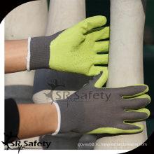 SRSAFETY 13G Вязаный лайнер с латексным покрытием на ладони, защитные рабочие перчатки