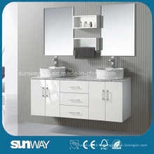 Горячая распродажа Америка Стиль Твердая деревянная мебель для ванной комнаты с двойной раковиной