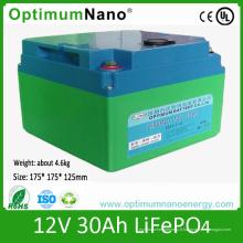 Batterie au lithium rechargeable 12V 30ah pour la lumière LED
