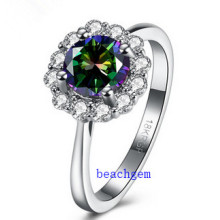 Hot Sell Jewelry- Mystic Cubic Zirconia Brass Rings (R0850)