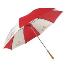 Mehrfarbiger roter und weißer Regenschirm, Golfregenschirm, roter Hochzeitsgeschenkregenschirm der Ankara-Frauen