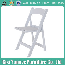 Plastic Frame Resin Folding Chair with Seat Pad
