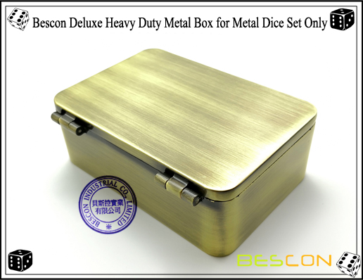 Bescon Deluxe Heavy Duty Metal Box for Metal Dice Set Only-6