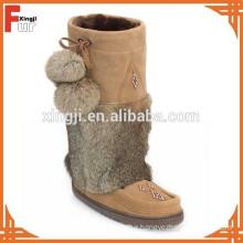 Top quality real rabbit fur winter boot cuff