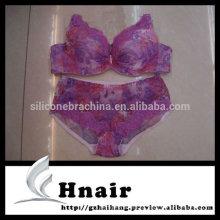 sujetador y conjunto de bragas de encaje de ropa interior de mujer