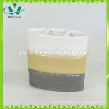 Titular de cepillo de dientes de cerámica de diseño de bambú