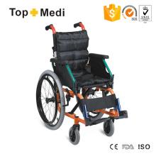 Cadeira de rodas pediátrica Topmedi com estrutura de alumínio