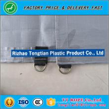 Feuille de maille enduite par PVC ignifuge / ignifuge 750D pour la construction