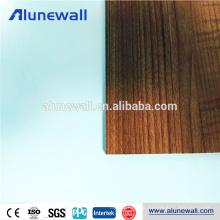Factory price Wooden grain curtain wall aluminum composit panel