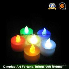 Funcionamiento con pilas LED caliente vela de té blanco para la decoración Festival