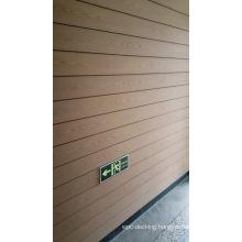 Deep 3D embossed wood grain panel PE WPC Composite outdoor wall cladding