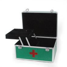 Boîtier médical de boîte à outils en aluminium avec plateau (HX-W2941)