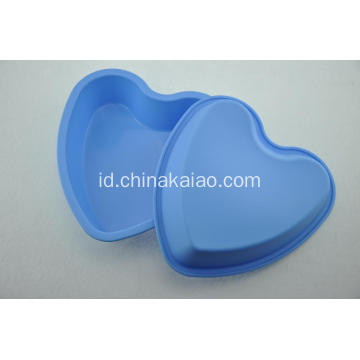 Grosir Blue Heart FDA Silicone Cake Pan
