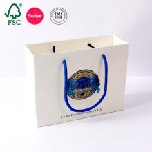 Personnalisé Blanc Pas Cher Prix Imprimé Artisanat Cadeau Luxuy Shopping Kraft Papier Sac Fabriqué En Chine