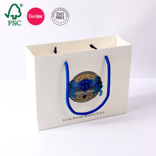 Изготовленные На Заказ Белые Дешево Цена Печатных Ремесло Подарок Элитные Магазины Kraft Бумажный Мешок Сделано В Китае
