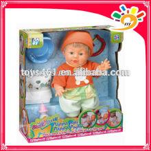 Heiße Verkaufs-reizende Baby-Pipi u. Scheiße-Puppe-Baby-Puppe-reizende Puppe
