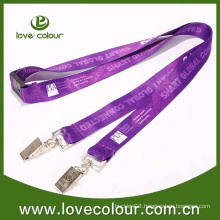 Double clip ticket holder for lanyard