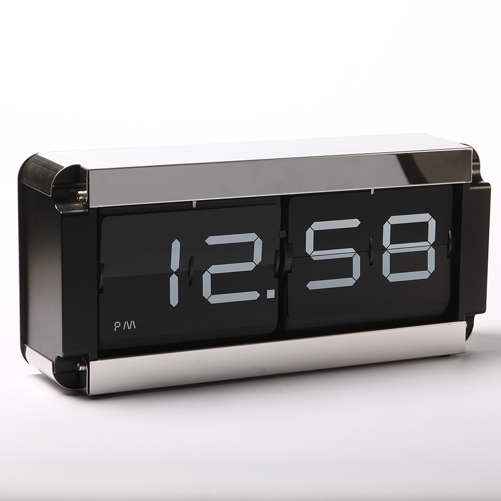 Metal Box Flip Table Clock