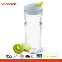 Everich BPA libre de doble capa reutilizables vaso de PP de 16oz