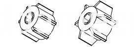 Rotary Damper Joint For Curtain
