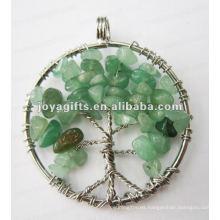 Colgante verde de la piedra de la viruta de Aventurine