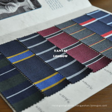 Blazer stripe cotton wool blend fabric for jackets
