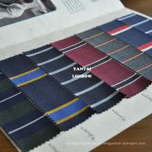 Blazer tecido de mistura de lã de algodão listra para jaquetas