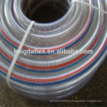 Flexible PVC Nylon Polyester Braided Spiral Galvanized Steel Wire Reinforced Water Suction Hose Pipe