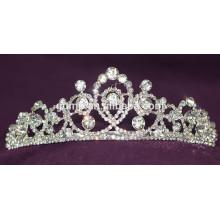 Fashion High Quality Alloy Wedding Tiara Custom Shiny Crystal Bridal Crown