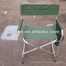 Cadeira de diretor em alumínio com suporte de copo