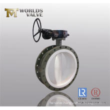PTFE Lining Flanged Butterfly Valve