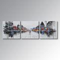 Handgemaltes modernes Wandkunst-abstraktes Ölgemälde auf Segeltuch