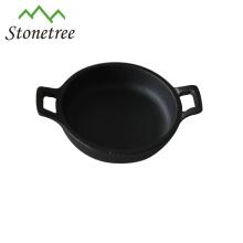 Vegetable Oil Cast Iron Rectangle Mini Skillet/Frying Pan