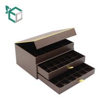 Роскошная причудливая бумажная Коробка формы книги бумажная уровня коробка шоколада упаковывая