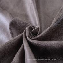 100% poliéster bronceado tela de gamuza en cuero sintético
