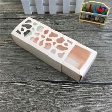 caixas de macaroon gaveta artesanal de embalagem com janela