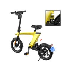 Batería de litio de 14 pulgadas Bicicleta eléctrica plegable de 25 km